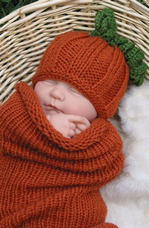 newborn knit hat photo prop pumpkin hat and cocoon newborn knit pumpkin