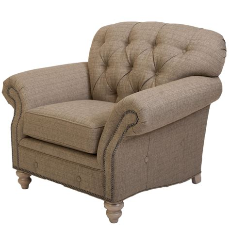 traditional button tufted traditional button tufted chair with nailhead trim by