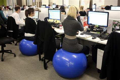 yoga ball desk create a physically healthy workforce through design