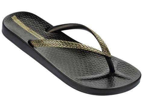 ipanema slippers ipanema flip flops ipanema mesh fem black gold