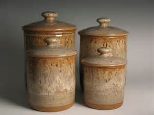 Unique Kitchen Canister Sets stoneware canister set 4 piece pottery