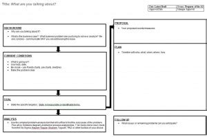 a4 problem solving template image gallery lean a4 template