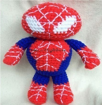 pattern for crochet spiderman doll amigurumi crochet pattern spiderman sea and lighthouse dolls