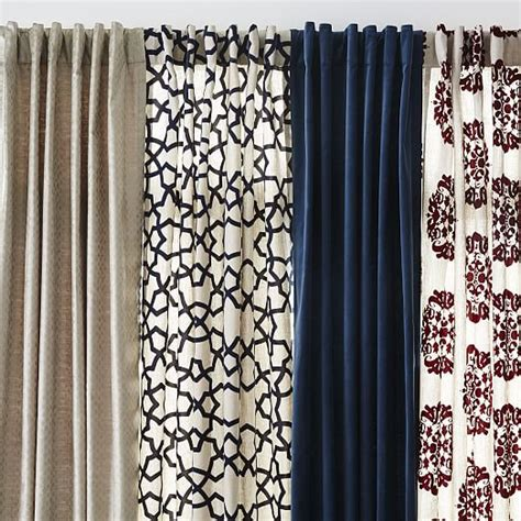 flocked curtains claude medallion flocked curtain west elm