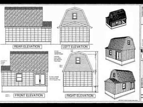 2 story shed plans youtube g455 gambrel 16 x 20 shed plan youtube