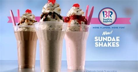 Baskin-Robbins Tests New Sundae Shakes | Brand Eating Arby S