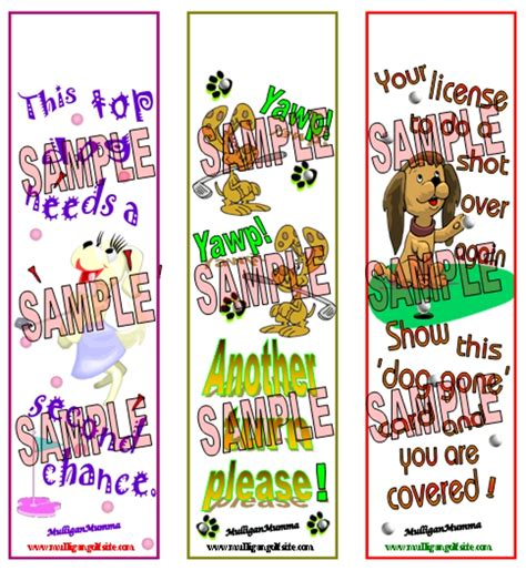 printable golf bookmarks mulligan golf dog bookmarks mulligan golf