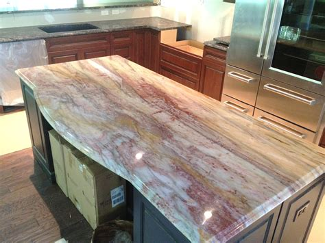 Kitchen Island With Granite Countertop Calypso Quartzite Island Angelo S Marble Granite