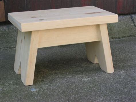 pine step stool unfinished foot stool small bench