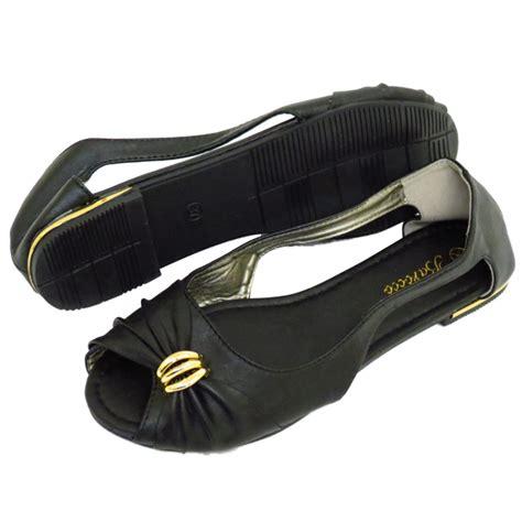size 2 black dolly shoes flat black slip on peep toe ballerina pumps dolly