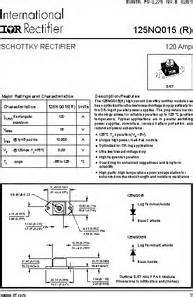 schottky diode specifications 125nq015r datasheet specifications diode type schottky diode configuration