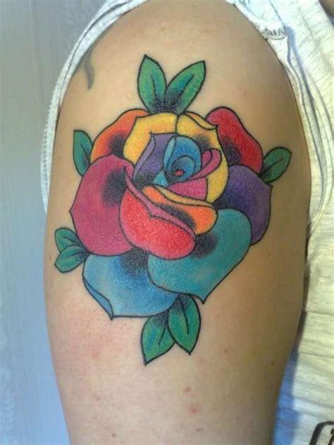 rainbow rose tattoo 11 amazing rainbow tattoos
