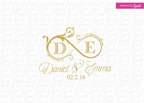 Wedding Monogram by Infinity Wedding Monogram Wedding Logo Wedding Crest Custom