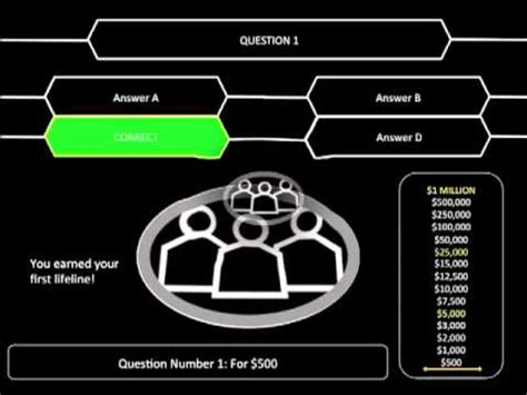 who wants to be a millionaire powerpoint template with music - un, Powerpoint templates