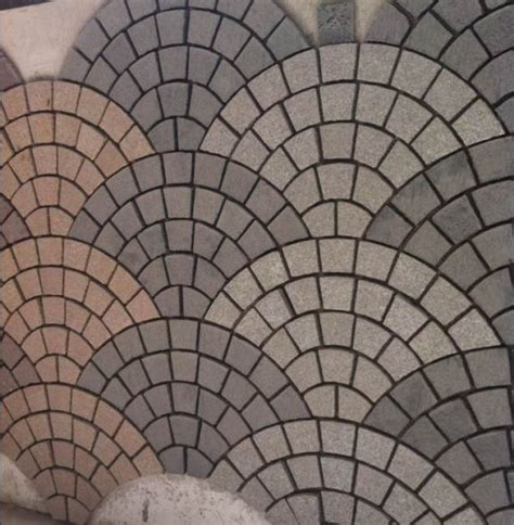 china fan shaped mosaic floor tiles kerbstone cube stone photos pictures made in china com