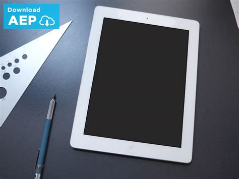 template after effects ipad after effects ui ipad presentation template by issara