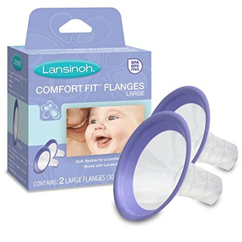 lansinoh comfort fit flanges 6 off lansinoh comfort fit flange large 2 count bpa