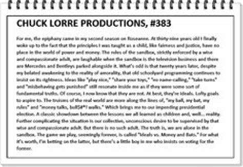 Chuck Lorre Vanity Card 255 by Chuck Lorre Vanity Cards 341 Chuck Lorre Productions