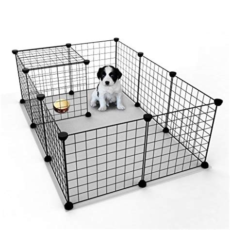 small puppy playpen tespo playpen indoor portable metal wire yard fence for small animals popup