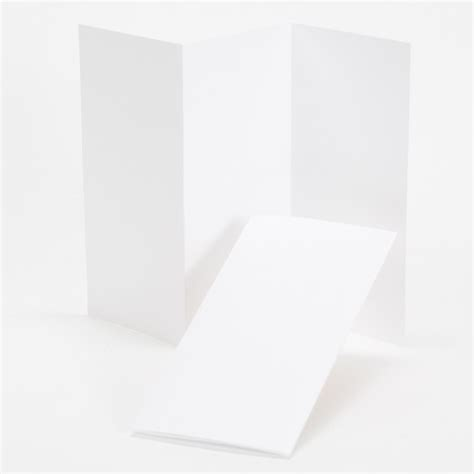 Tri Fold Perforated Paper - impressions hi white tri fold program 4 x 8 folded
