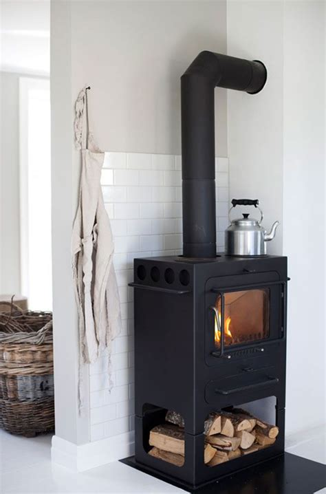 wood stove with subway tile it wood burning stove