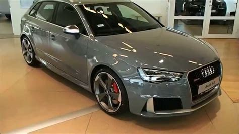 nardo grey rs3 2015 nardo grey audi rs3 in detail red stiches calipers