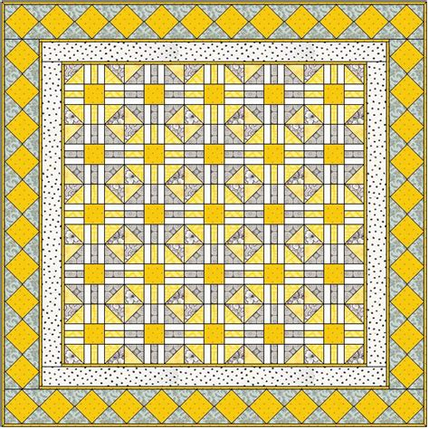 Patchwork Web - mellow yellow quilt free pattern web craft