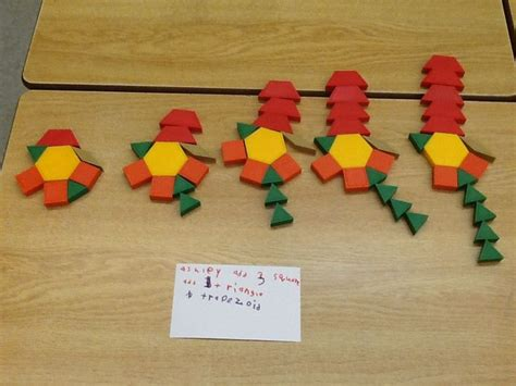 repeating pattern activities growing patterns with pattern blocks patterns growing