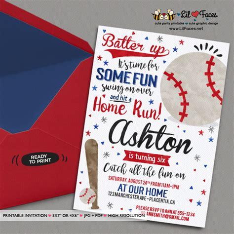 printable birthday baseball invitations baseball birthday party invitations baseball birthday