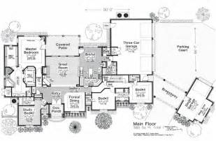 Floor Plans With Breezeway by House Plan 66248 At Familyhomeplans Com
