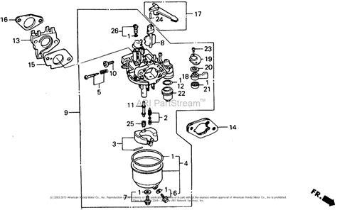honda parts diagram honda gx 340 carb diagram honda auto parts catalog and
