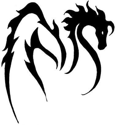 tribal unicorn tattoo