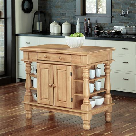 Maple Kitchen Islands Home Styles Americana Maple Kitchen Island With Storage 5080 94 The Home Depot