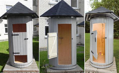 box doccia legno cabina doccia da esterno tilli in legno 1 20 x h 2 90 m