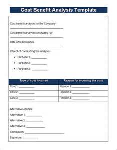 free cost analysis template cost benefit analysis template 13 free