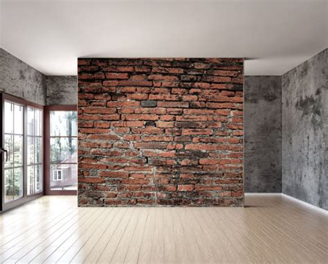 peel and stick wall covering items similar to old brick wall mural repositionable peel