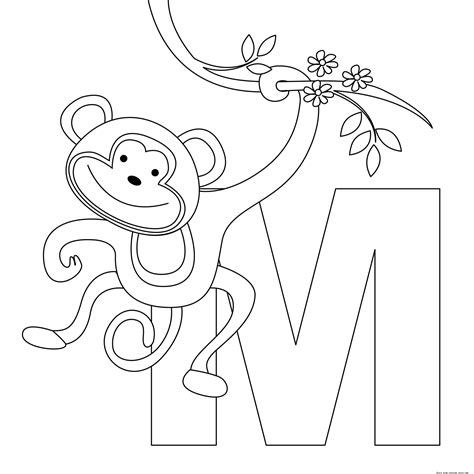 Printable Animal Alphabet Letters M Coloring Pagesfree Free Printable Christmas Coloring Pages L