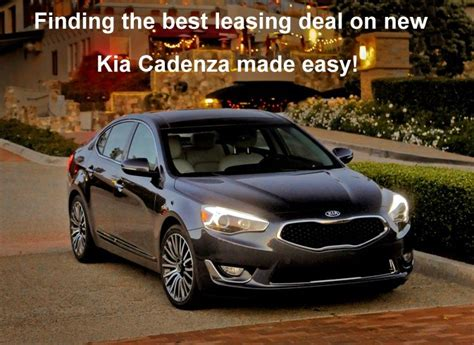 Lease Kia Cadenza Best Kia Leasing Deals And Offers On 2014 Cadenza Premium