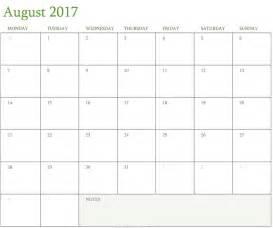 2017 august calendar calendar template august calendar