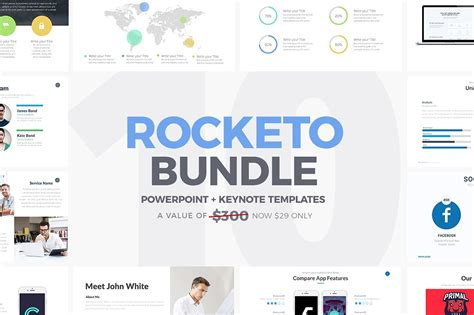 rocketo powerpoint keynote bundle presentation