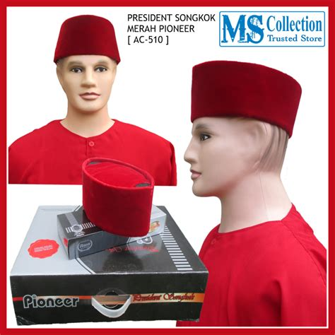 Peci Merah No10 Beludru Halus president songkok merah pioneer ac 510 ms collection
