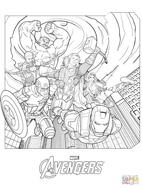 Mighty Avengers Coloring Pages | mighty avengers free coloring pages
