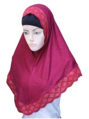 Jilbab Instant Bando Pet Renda jilbab syria renda toko jilbab grosir jilbab murah
