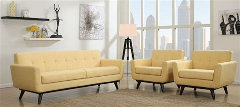 yellow living room set james mustard yellow linen living room set from tov a55