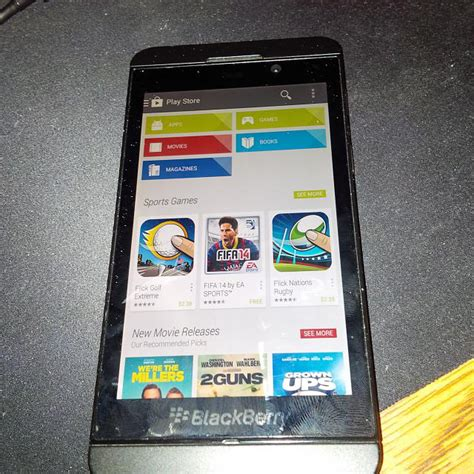 rumor play store support included in blackberry 10 2 1