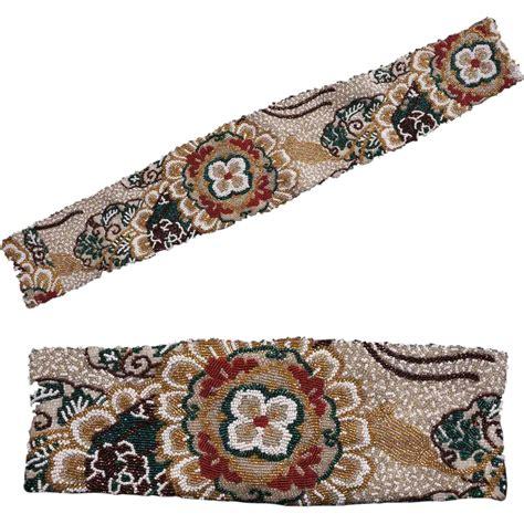 beaded belt vintage 60s fully beaded belt size small 25 5