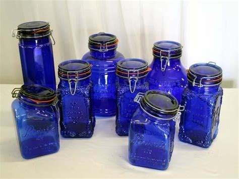 Cobalt Blue Kitchen Canisters by 63 Best Cobalt Blue Glass Images On Cobalt