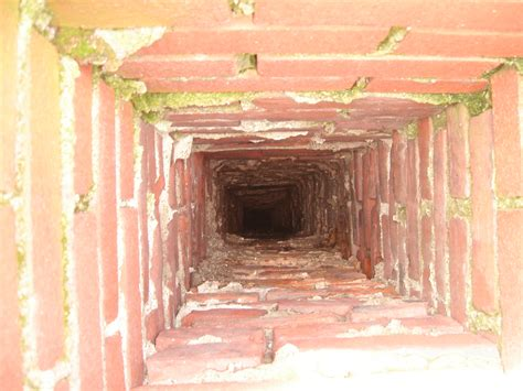 Inside A Fireplace inside chimney