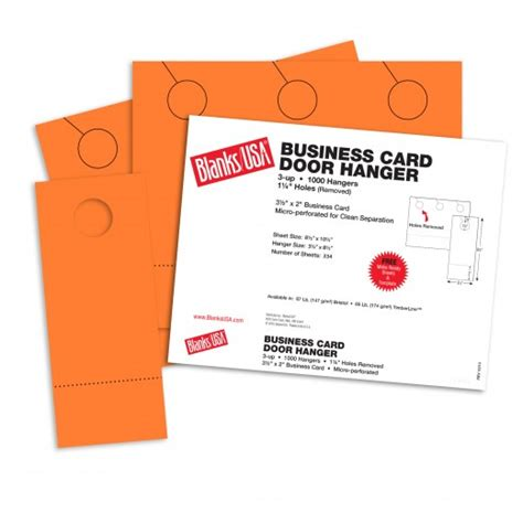 2 X 3 5 Business Card 10 Per Page Template by Hunters Orange Business Card Door Hangers 10 1 2 X 8 1 2