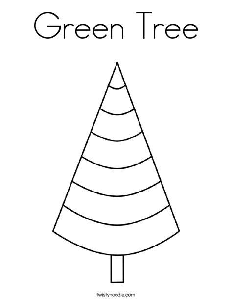 Green Tree Coloring Page | green tree coloring page twisty noodle